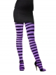 Tights (Striped - Purple and Black)