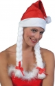SANTA HAT,WHITE PLAITS and Ribbons,Bulk