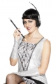 CIGARETTE HOLDER,SEQUINED LONG BLACK