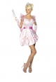 PRINCESS COSTUME,PINK DRESS, BOWS (Fever)