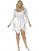 Knee Length Dress (White Plus Size - Bijou Boutique)