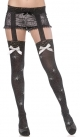 Thigh Highs With Garter (Spiderweb - Bijou Boutique)