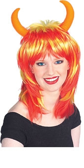 Wig (Horns Yellow/Red)