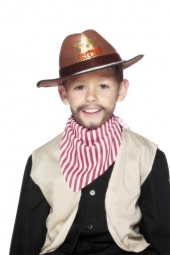 COWBOY HAT BROWN EVA,Childs,With Cord