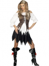 PIRATE LADY DELUXE,SKIRT,SHIRT,VEST,