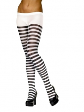 Tights (Striped - Black and White)